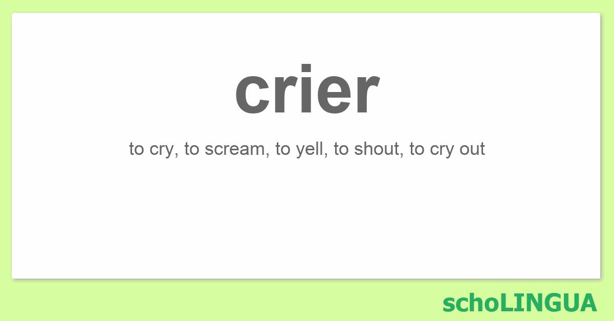 cry conjugation